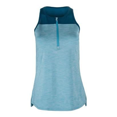 Women`s Snap Tennis Tank Azure and Pacific Blue