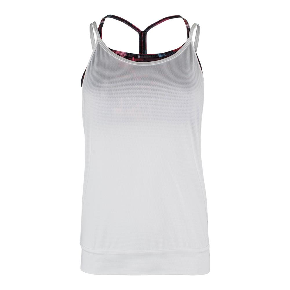 Women's Bringing Sexy Back Tennis Tank White And Tile Print