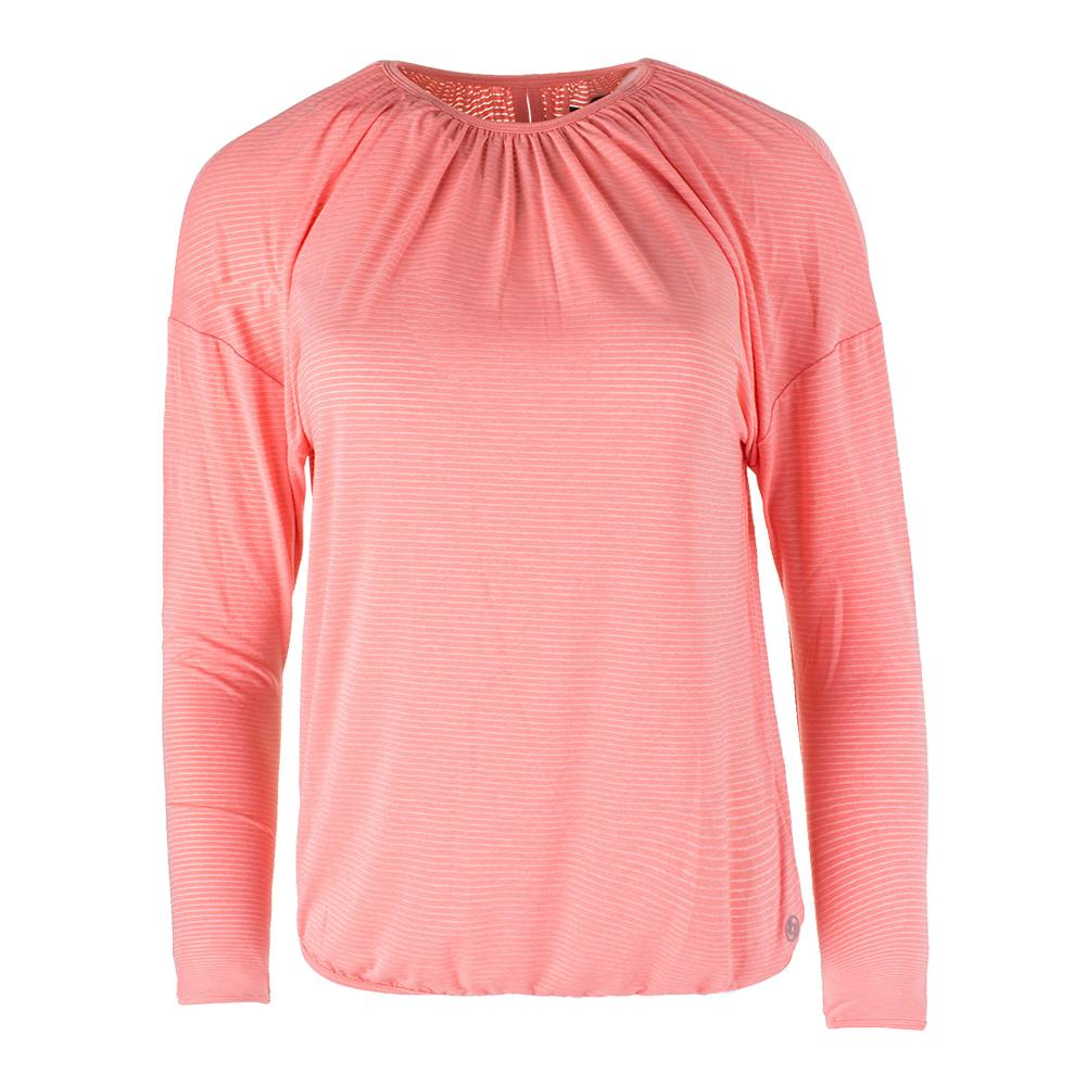 Women's Fearless Long Sleeve Tennis Top Seashell