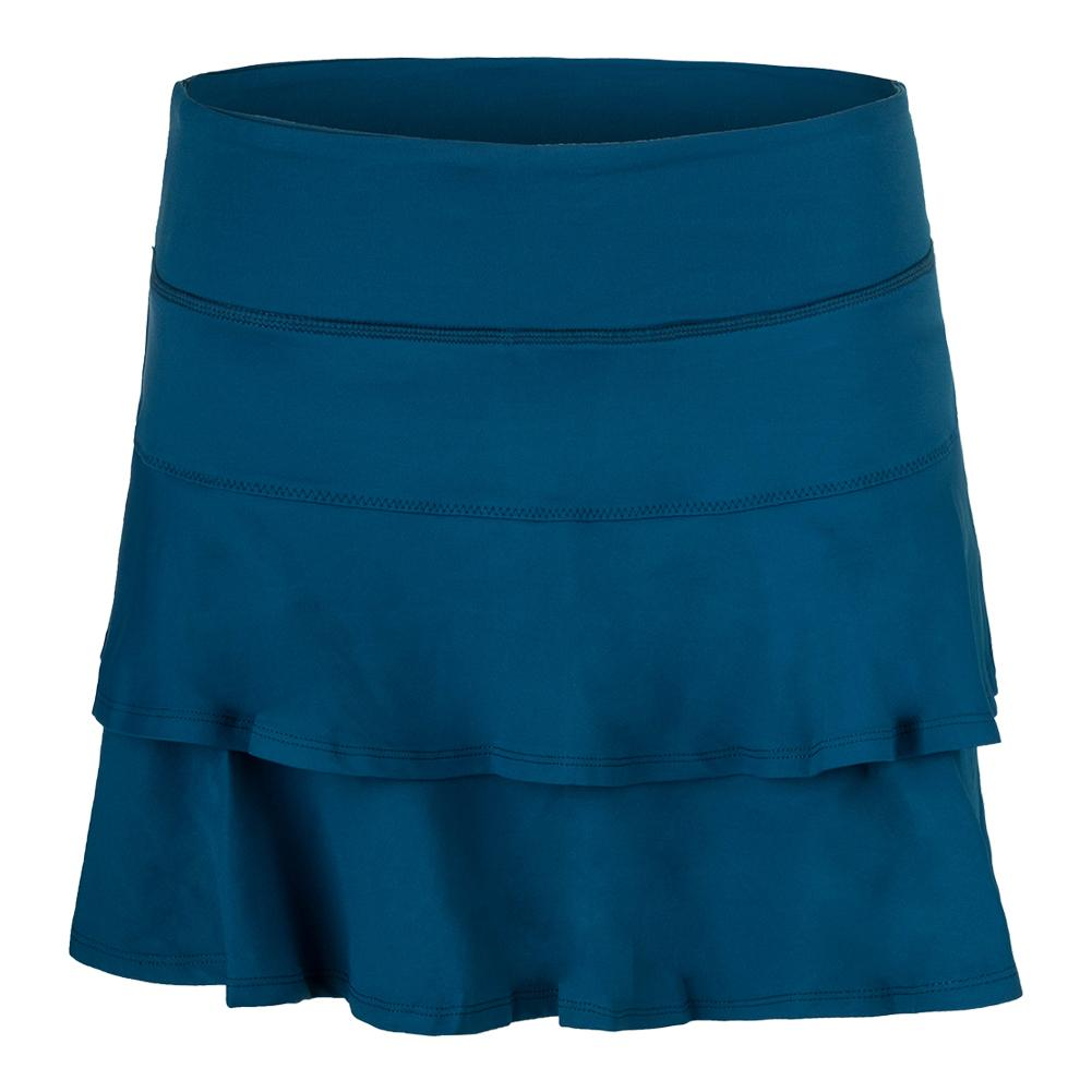 Women's Match Tennis Skort Pacific Blue