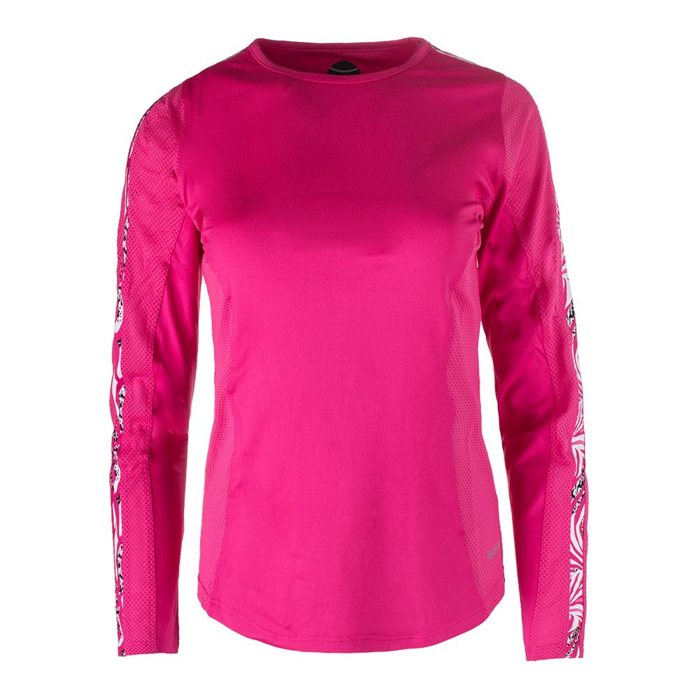 Women's Long Sleeve Tennis Top Azalea