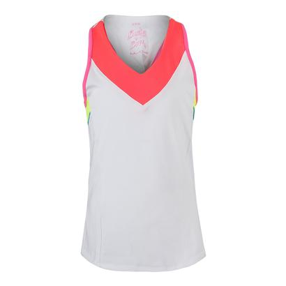 Girls` V-Neck Racerback Tns Tank White