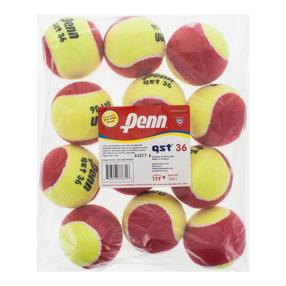 Qst 36 Felt Tennis Balls 12 Count Bag