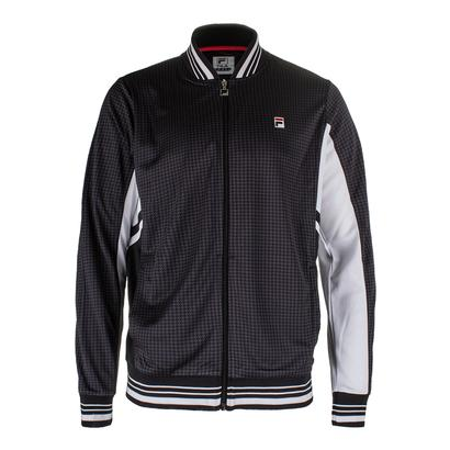 Men`s Houndstooth Settanta Tennis Jacket Nine Iron and Black