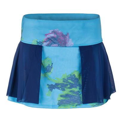 Women`s Interlace 13 Inch Tennis Skort Peony and Needlepoint Print