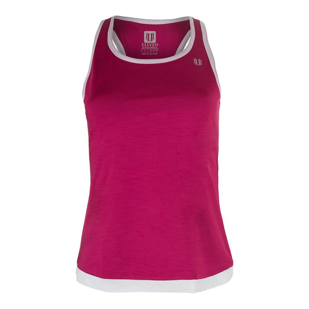 Women's Ashram Tennis Tank Cherry