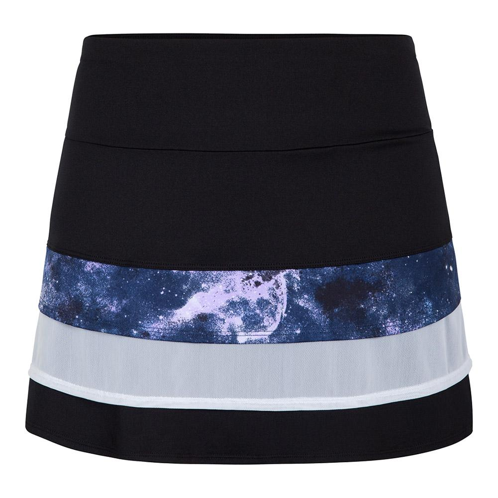Women's Krishna 13.5 Inch Tennis Skort Galaxy And Black