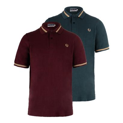 Men`s Single Tipped Tennis Polo
