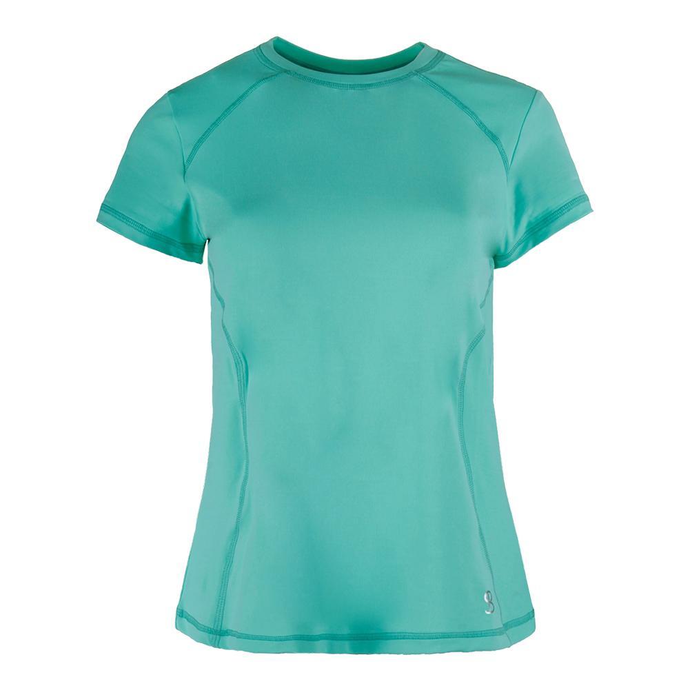 Women's Classic Shortsleeve Tennis Top Seaglass