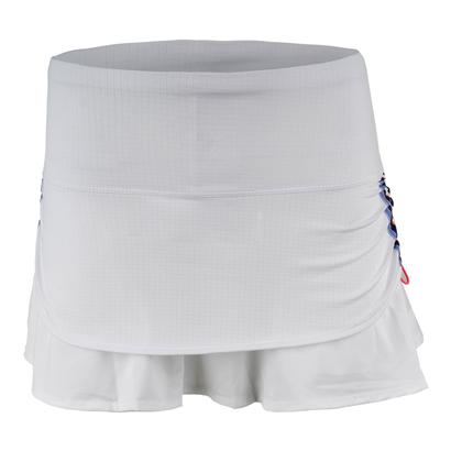 Women`s Vantage Ruched Pleat Tier Tennis Skort White