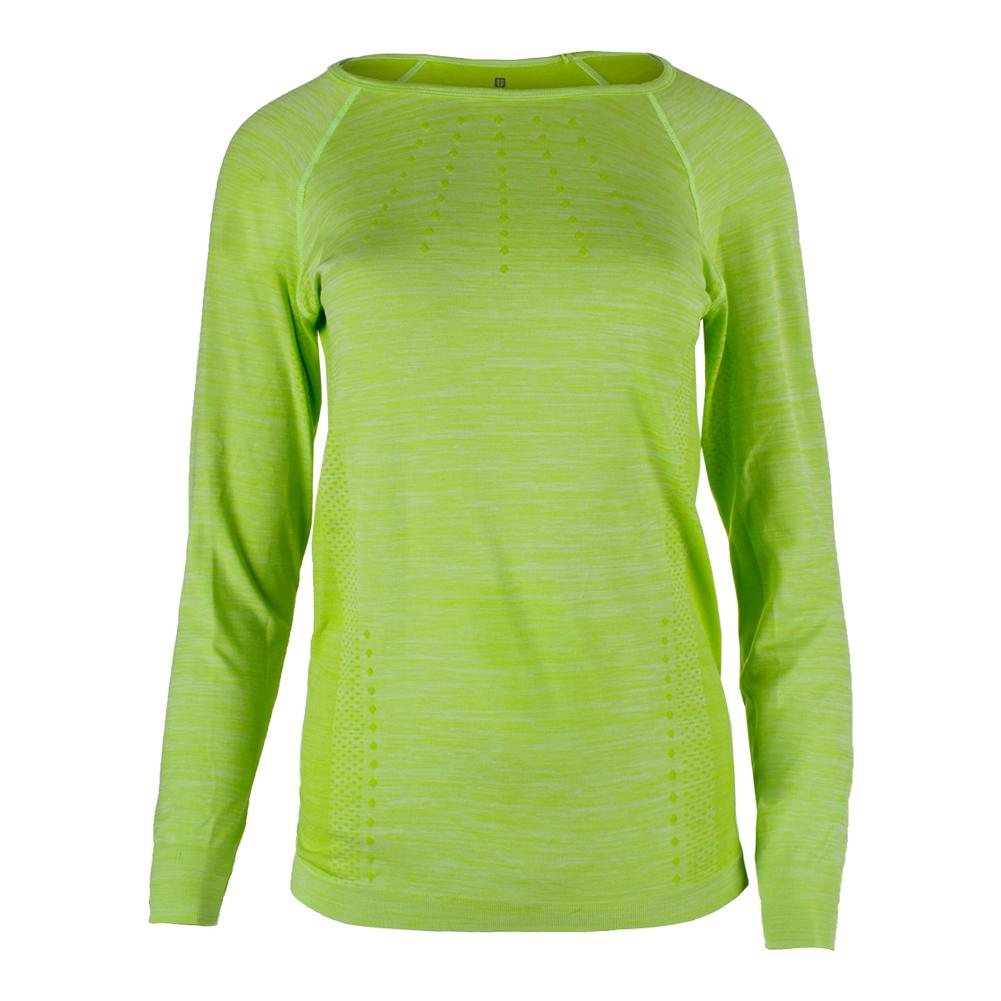 Women's Absolute Long Sleeve Tennis Top Sharp Green