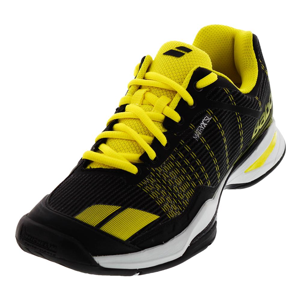 Men's Jet Team All Court Tennis Shoes Black And Yellow