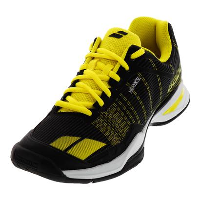 Men`s Jet Team All Court Tennis Shoes Black and Yellow