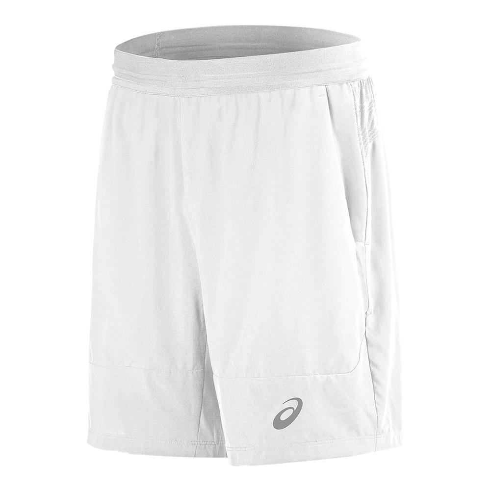 Men's Athlete 7 Inch Tennis Short Real White