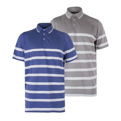 Men`s Striped Engineered Polo