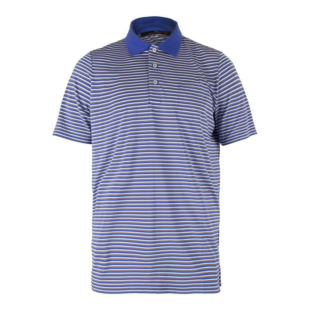 Men's Striped Airflow Jersey Polo