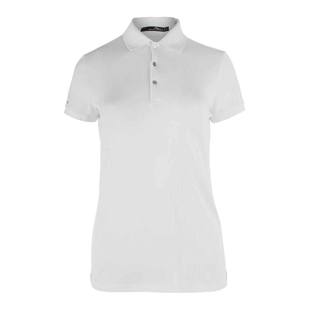 Women's Short Sleeve Tournament Polo Pure White