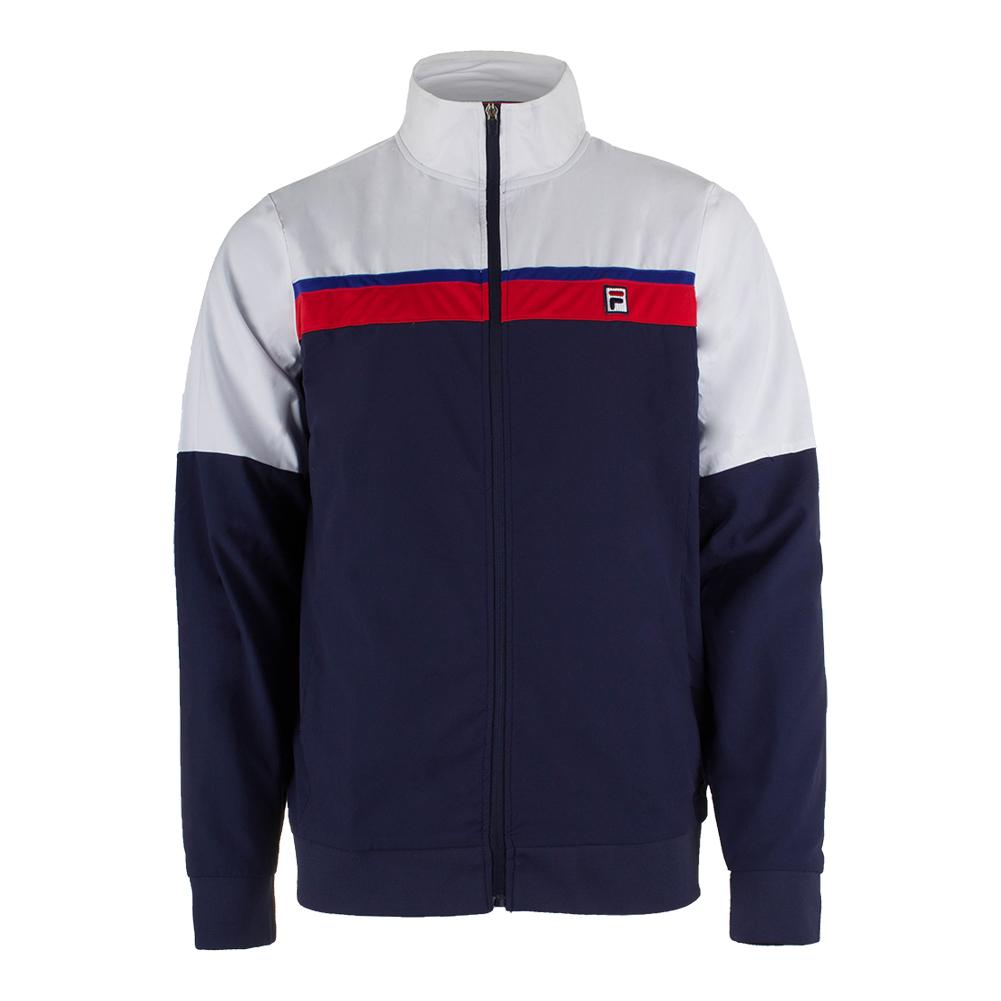 Men's Heritage Tennis Jacket Navy And White
