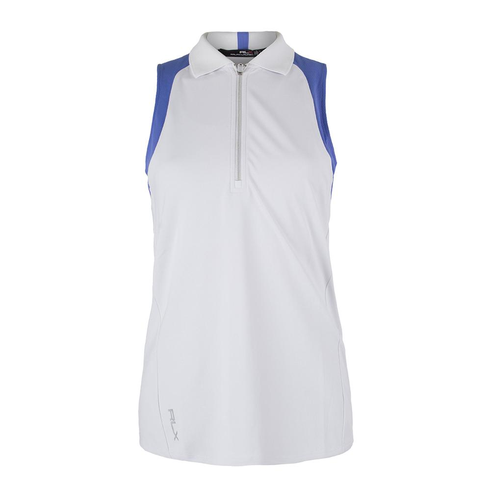 Women's Sleeveless Colorblock Knit Pure White And Tyler Blue