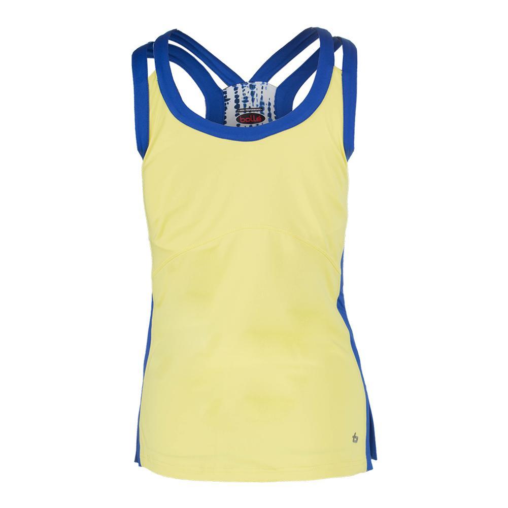 Women's Sapphire Racerback Tennis Tank Maze And Cobalt