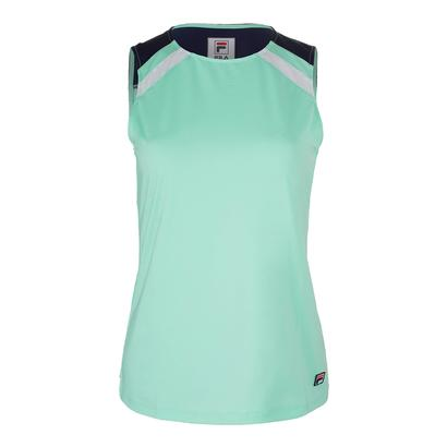 Women`s Heritage Full Coverge Tennis Tank Mint and Navy
