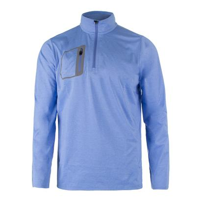 Men`s Brushed Back Jersey Layer Cabana Blue Heather