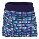 Women`s Deuce Tennis Skirt 930_PRINT_BLUE/BL_RB