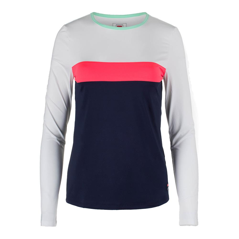 Women's Heritage Long Sleeve Tennis Top Navy And White