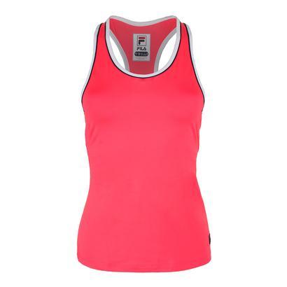 Women`s Heritage Solid Racerback Tennis Tank Diva Pink