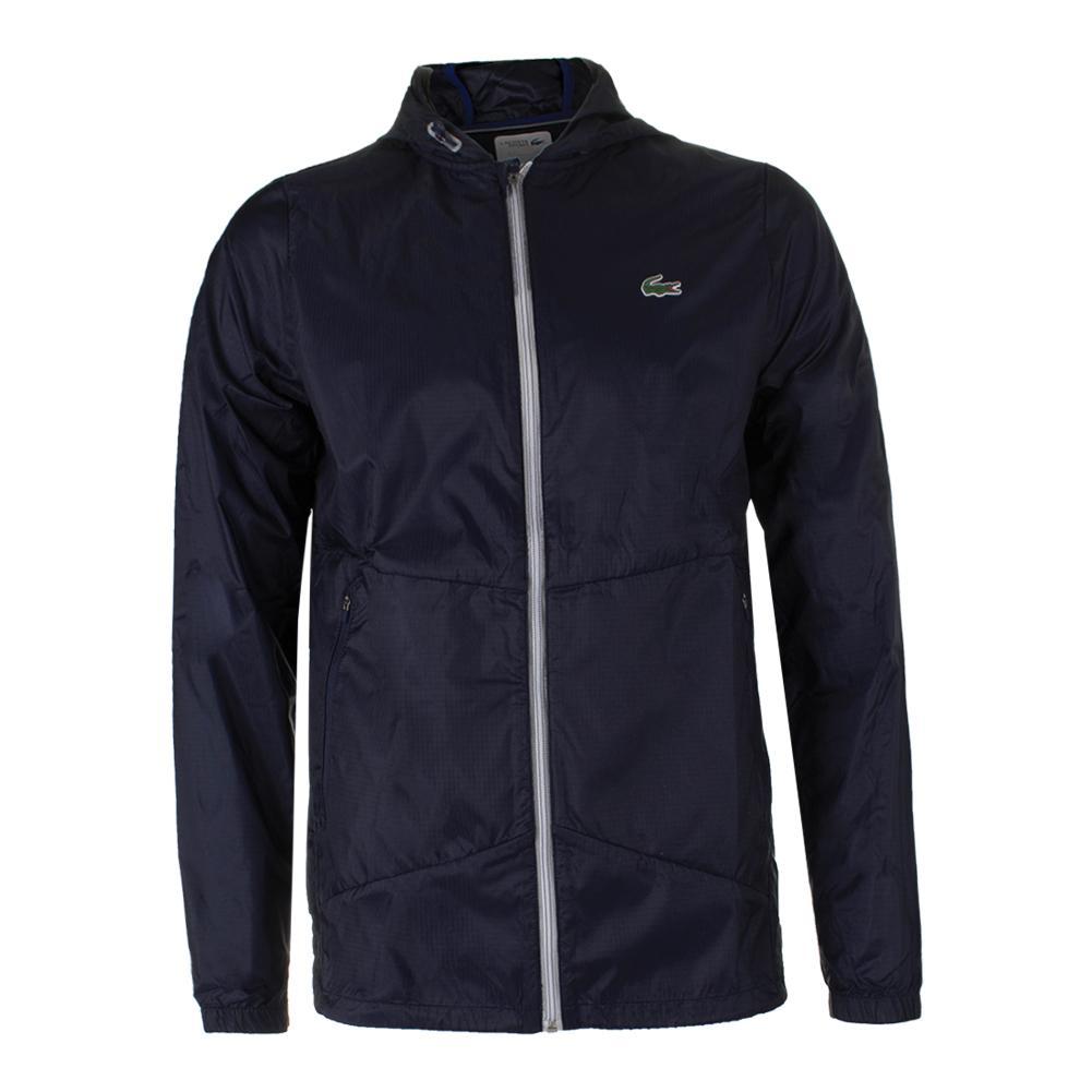 Men's Novak Transparent Taffetas Tennis Hoddie Jacket Navy Blue