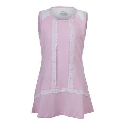 Girls` Lace Tennis Dress Bright Pink
