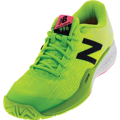 Men`s 996v3 2E Width Tennis Shoes Energy Lime and Arctic Fox