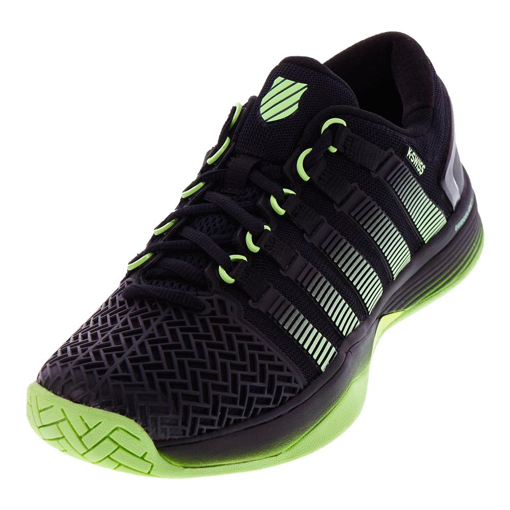 Men's Hypercourt 2.0 Tennis Shoes Black And Paradise Green