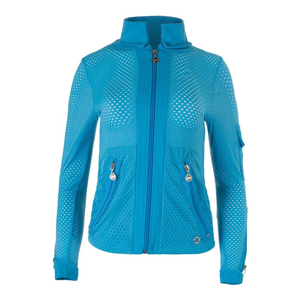 Women's Cosmo Tennis Jacket Turquoise