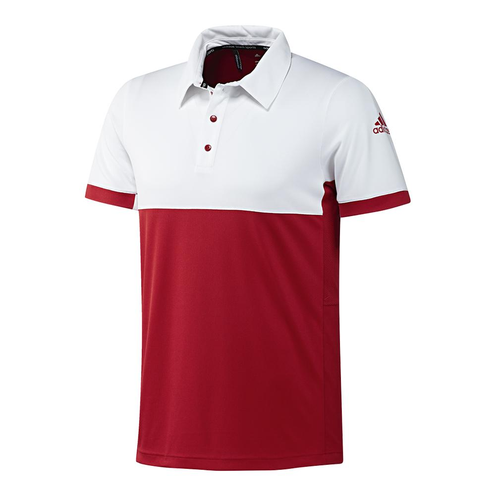 Men's T16 Cc Tennis Polo Power Red And White