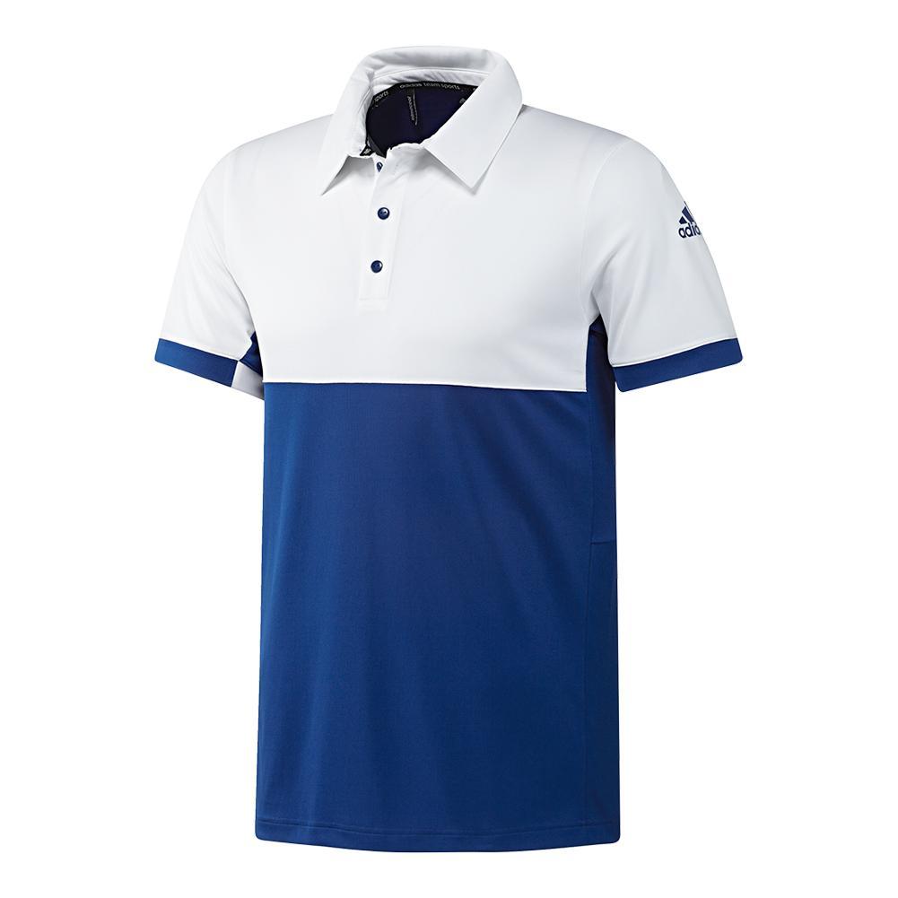 Men's T16 Cc Tennis Polo Collegiate Royal And White