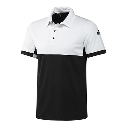 Men`s T16 CC Tennis Polo Black and White