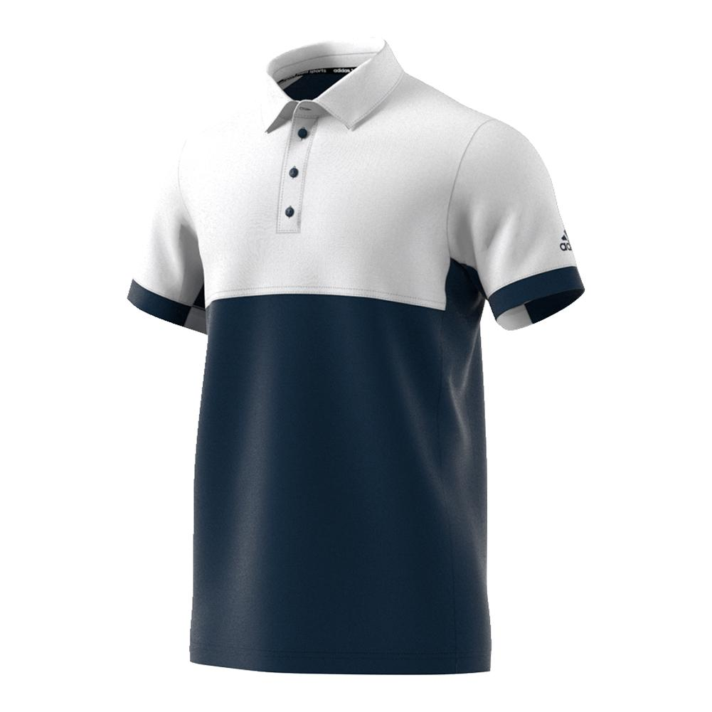 Men's T16 Cc Tennis Polo Collegiate Navy And White