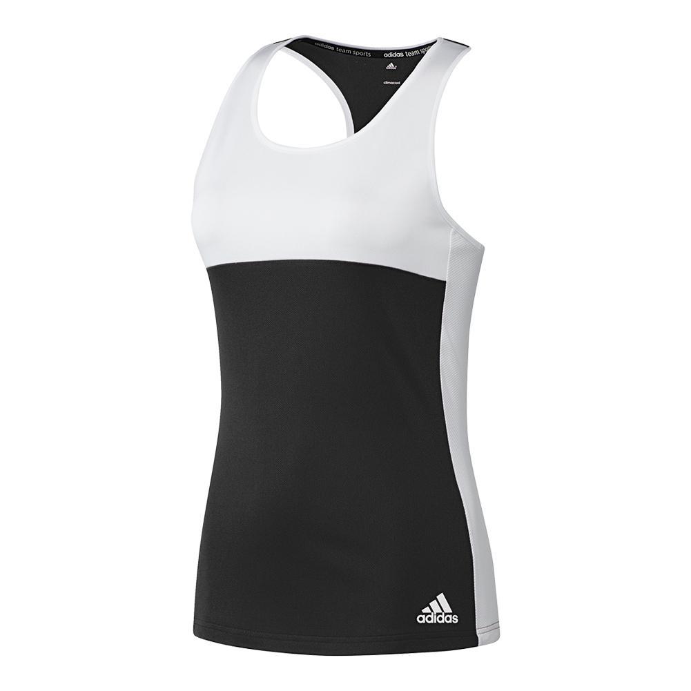 Women's T16 Cc Tennis Tank Black And White