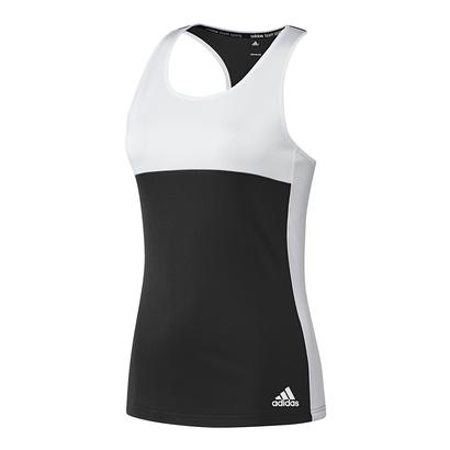 Women`s T16 CC Tennis Tank Black and White