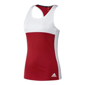 Women`s T16 CC Tennis Tank Power Red and White