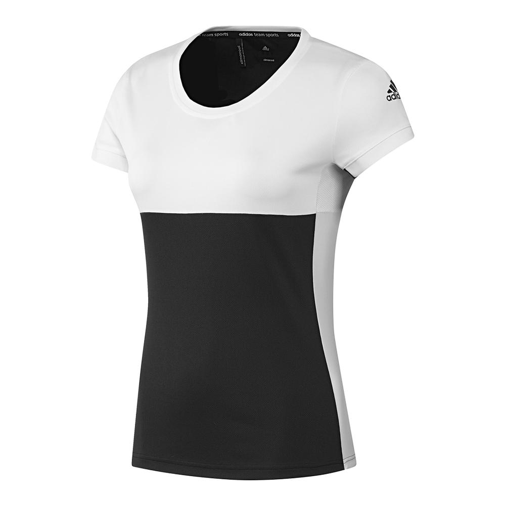Women's T16 Cc Tennis Tee Black And White