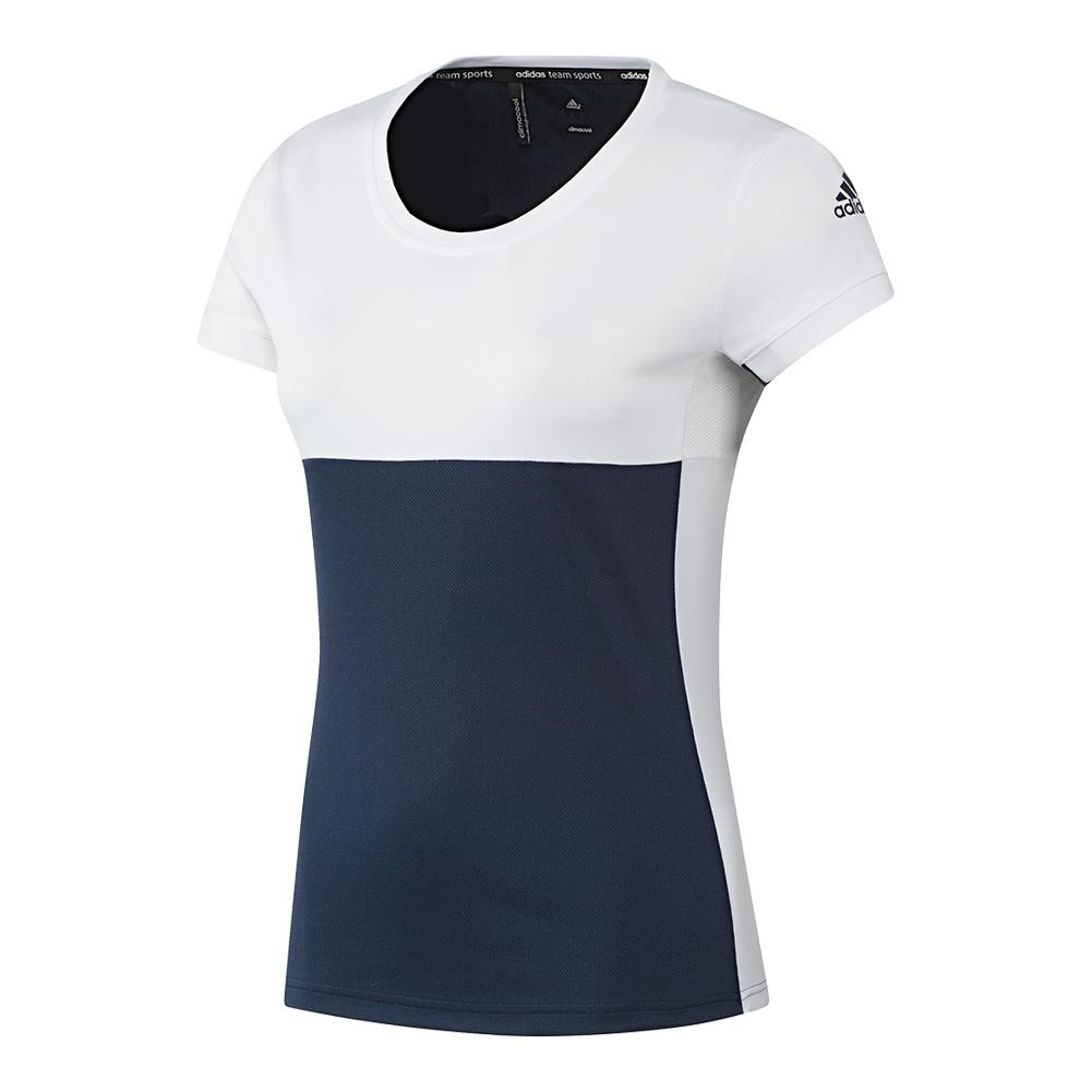 Women's T16 Cc Tennis Tee Collegiate Navy And White