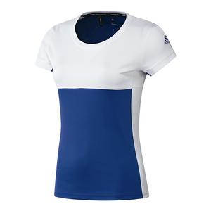 Women`s T16 CC Tennis Tee Collegiate Royal and White