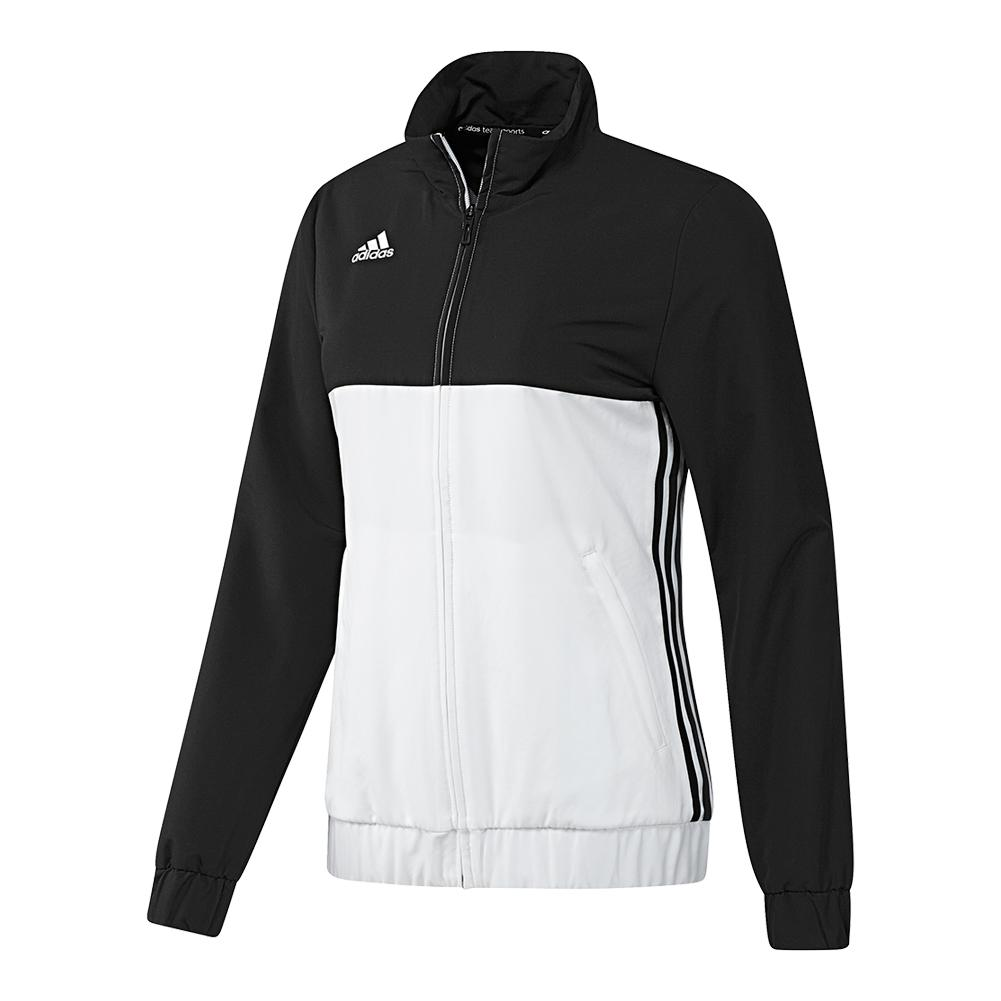 Women's T16 Team Tennis Jacket Black And White