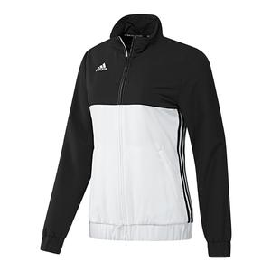 Women`s T16 Team Tennis Jacket Black and White