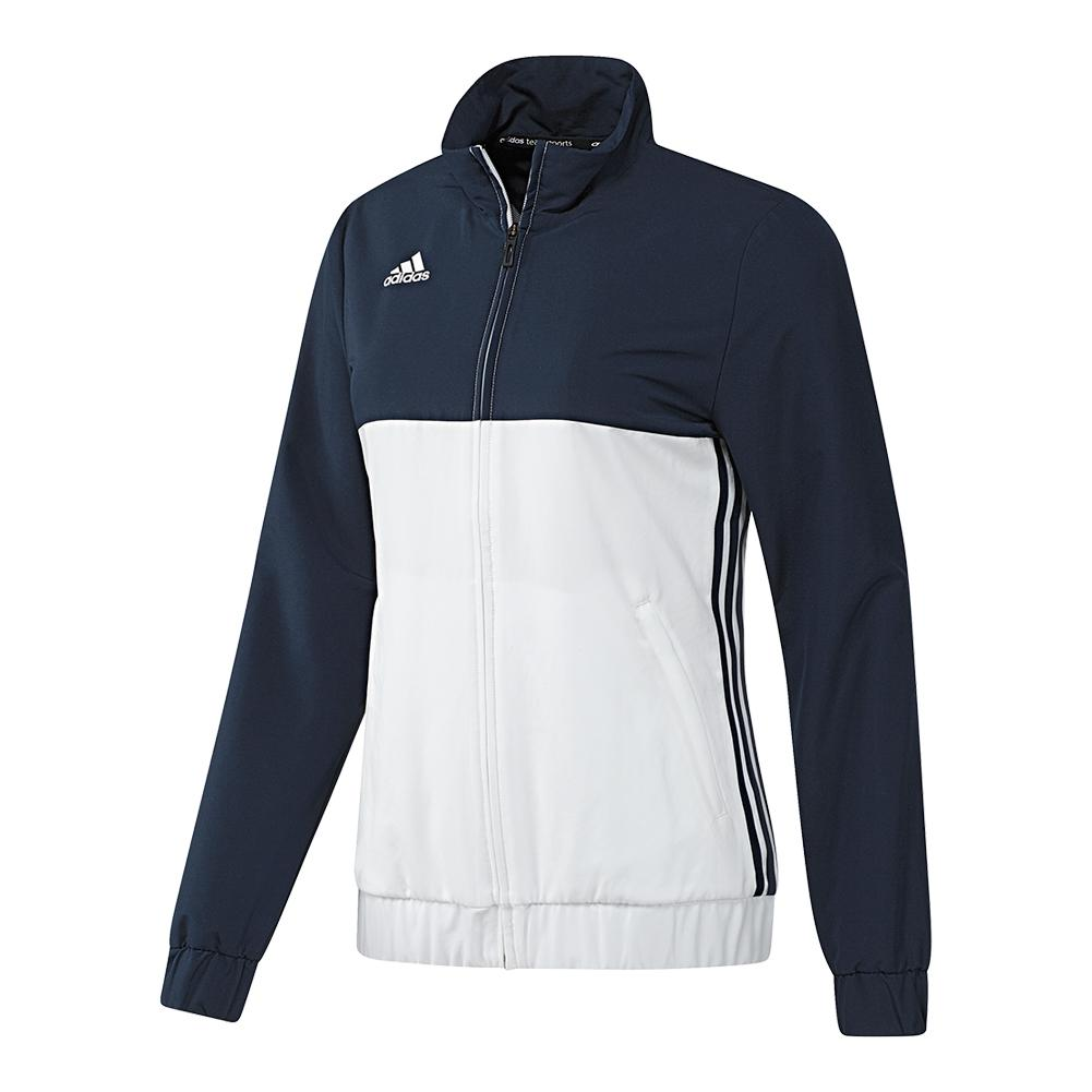 Women's T16 Team Tennis Jacket Collegiate Navy And White
