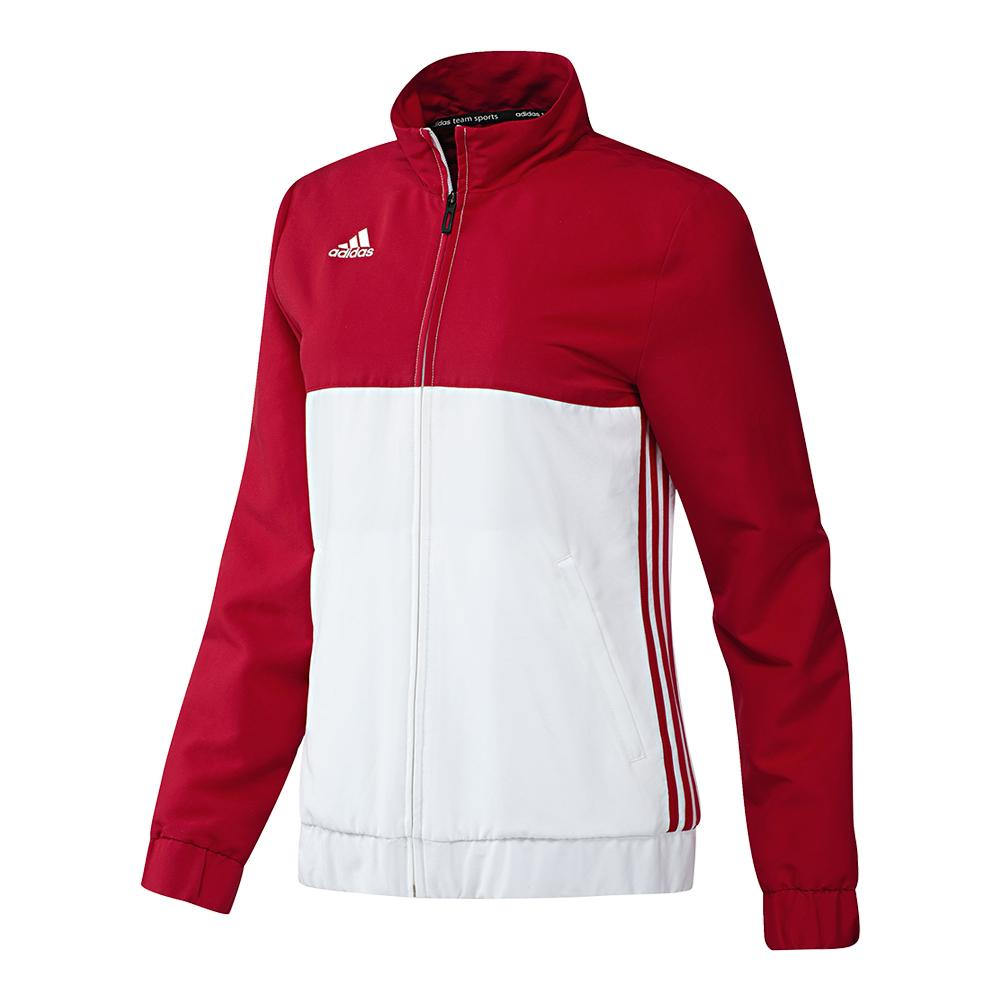 Women's T16 Team Tennis Jacket Power Red And White
