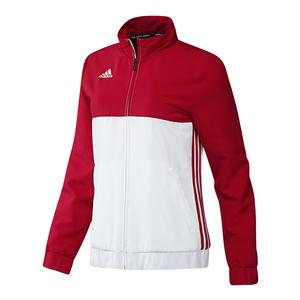 Women`s T16 Team Tennis Jacket Power Red and White