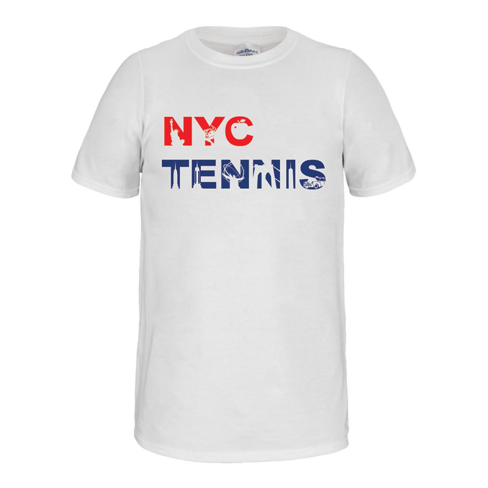 Unisex Nyc Landmark Tennis Tee White